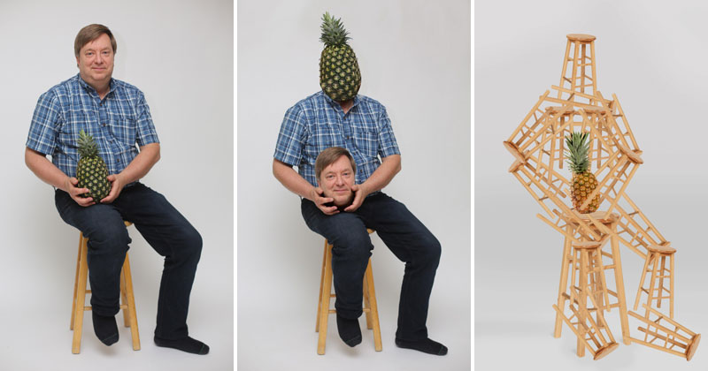 Proud Dad Posing with a Pineapple He Grew Goes Viral and the Photoshops areHilarious