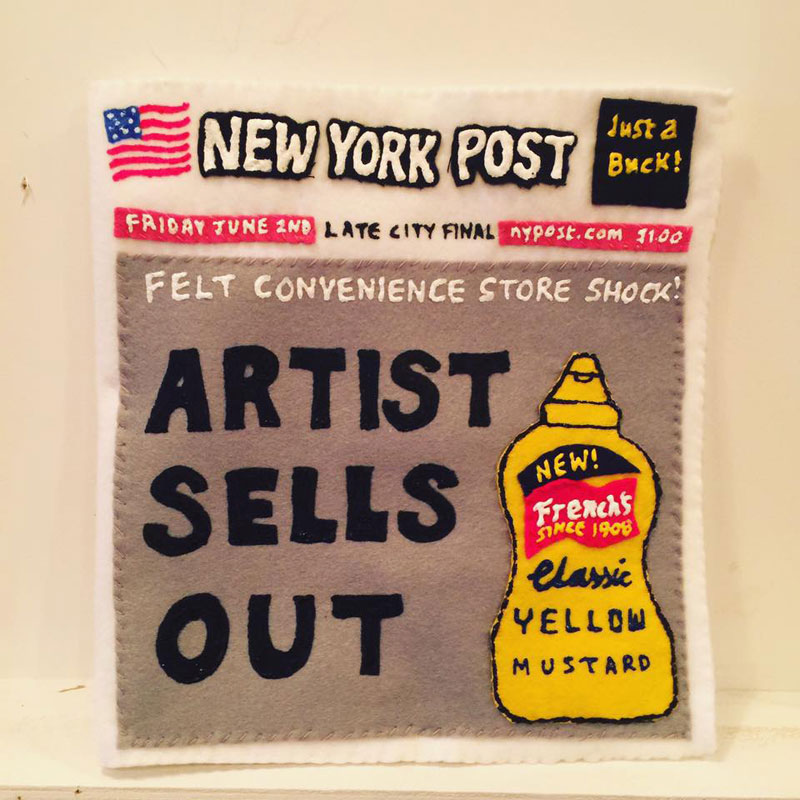 felt convenient store new york by lucy sparrow 12 Artist Opens Fauxdega in New York With 9,000 Felt Products and Its Already Sold Out