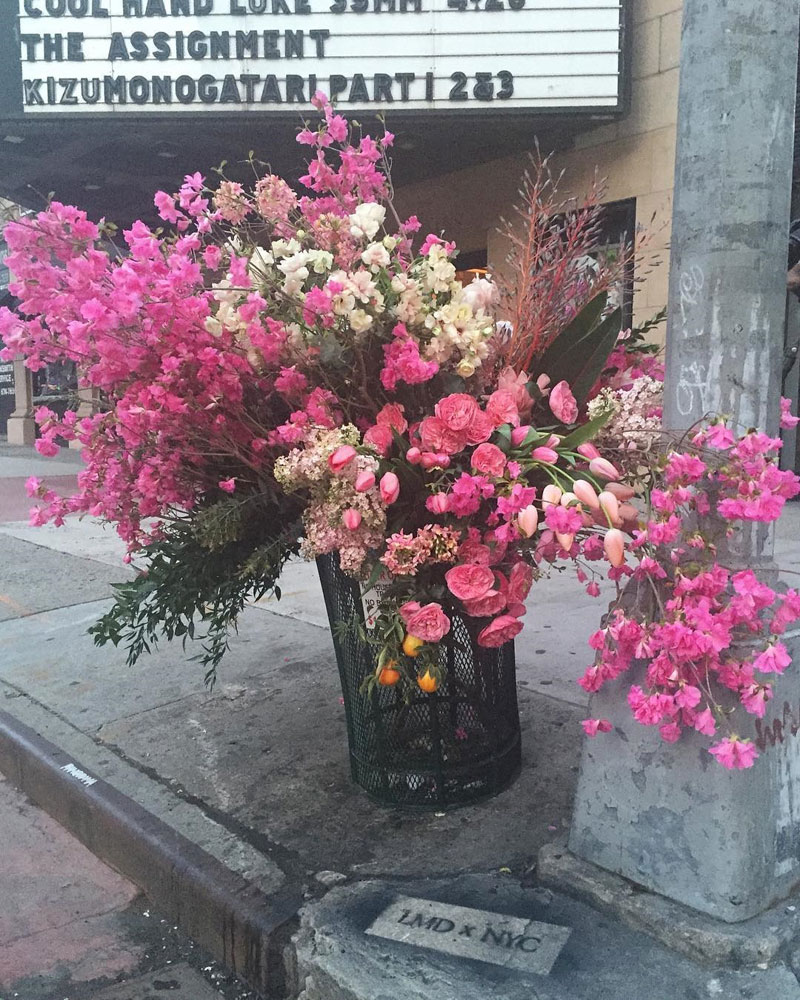 A Team Of Florists Have Been Leaving Giant Bouquets Around New York
