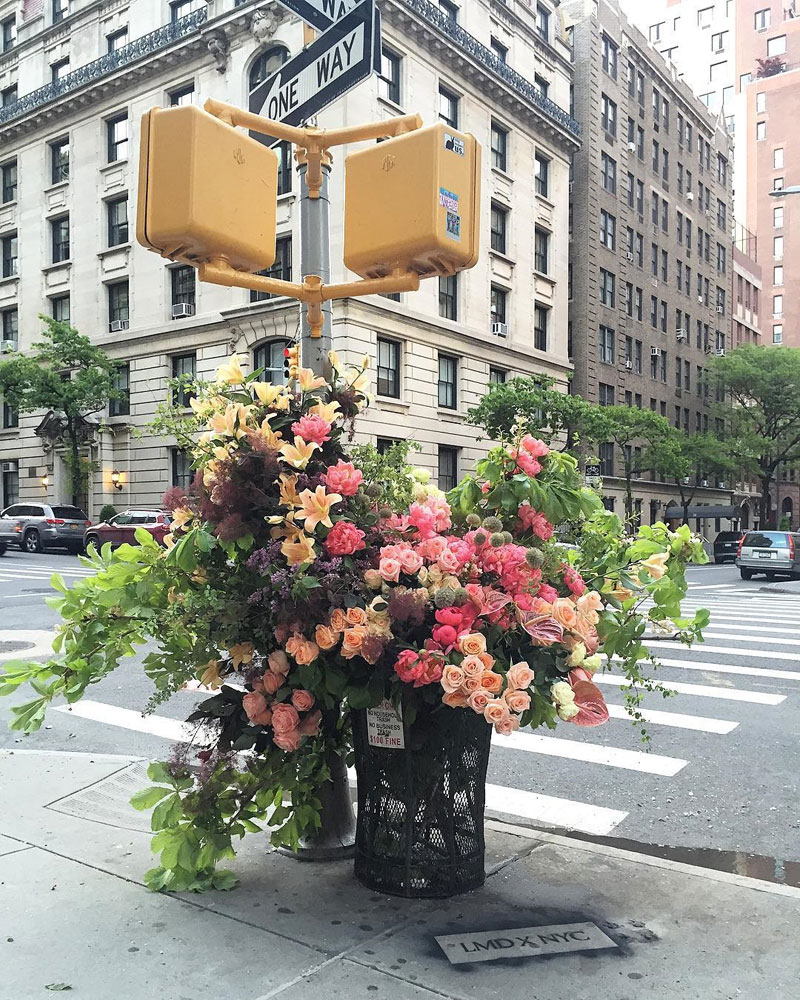 giant flower bouquets new york city streets lews miller design 5 A Team of Florists Have Been Leaving Giant Bouquets Around New York and Its Amazing