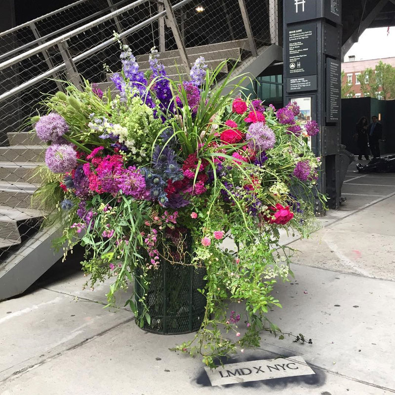giant flower bouquets new york city streets lews miller design 6 A Team of Florists Have Been Leaving Giant Bouquets Around New York and Its Amazing