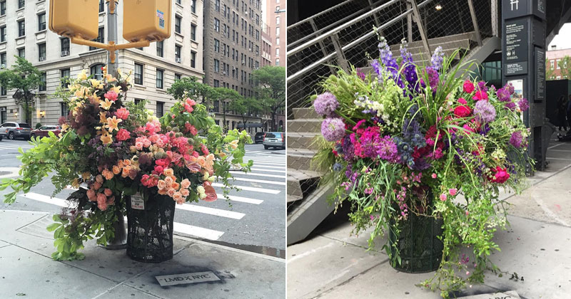 A Team of Florists Have Been Leaving Giant Bouquets Around New York and It's Amazing