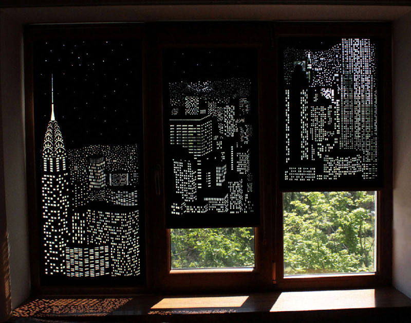 intricately cut blinds show iconic cityscapes at night by holeroll 4 These Intricately Cut Blinds Show Iconic Cityscapes at Night