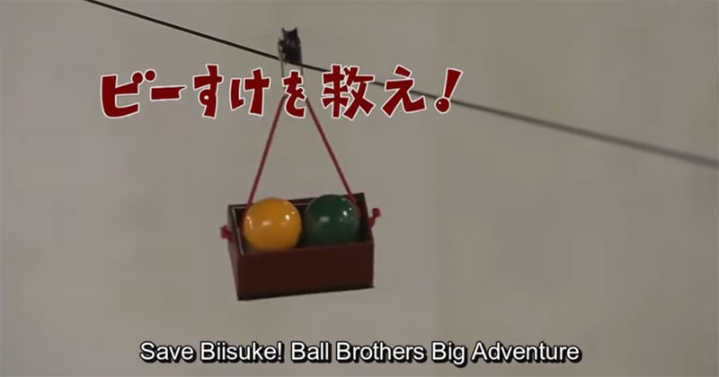 This Japanese Rube Goldberg Machine Also Tells a Search and Rescue Story