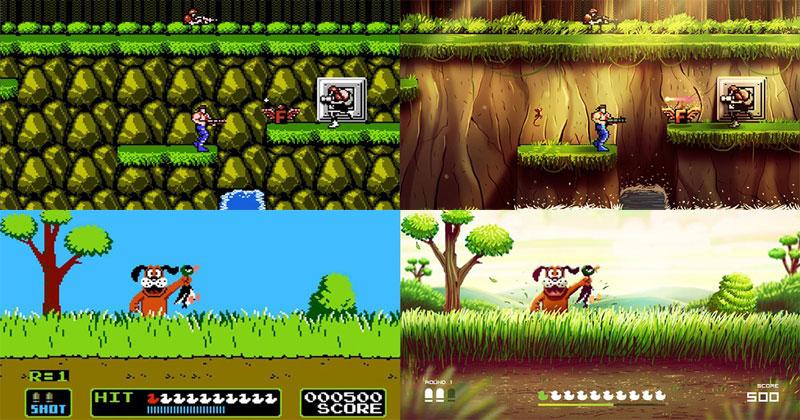 Andrés Moncayo Paints Over Screenshots of Classic NES Games [NostalgiaTriggered]