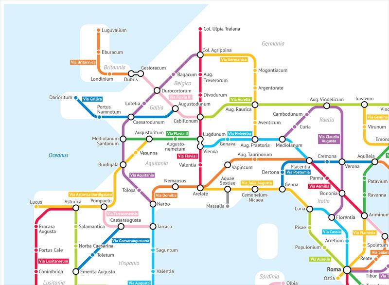 roman empire subway map by sasha trubetskoy 3 A Roman Empire Subway Map of their 250,000 Mile Road Network