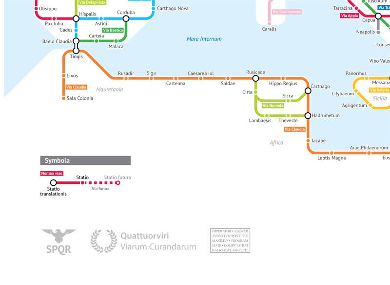 roman empire subway map by sasha trubetskoy 4 A Roman Empire Subway Map of their 250,000 Mile Road Network