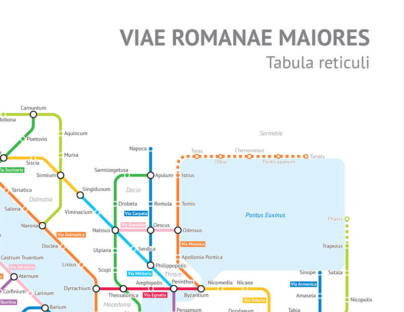 What The Roman Empire Would Look Like If It Was A Subway Map.A Roman Empire Subway Map Of Their 250 000 Mile Road Network