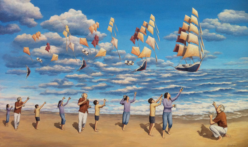 surreal paintings by rob gonsalves 2 12 Mind Bending Magic Realism Paintings by Rob Gonsalves