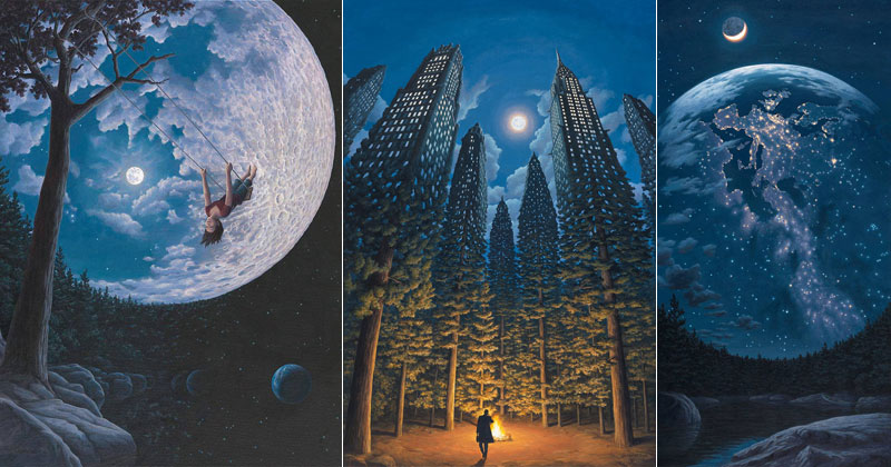 12 mind bending magic realism paintings by rob gonsalves