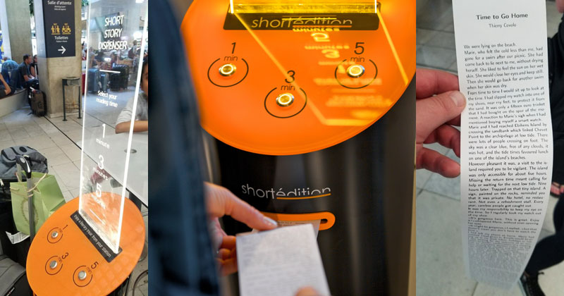 This Machine Prints Free Short Stories for You to Read While You Wait