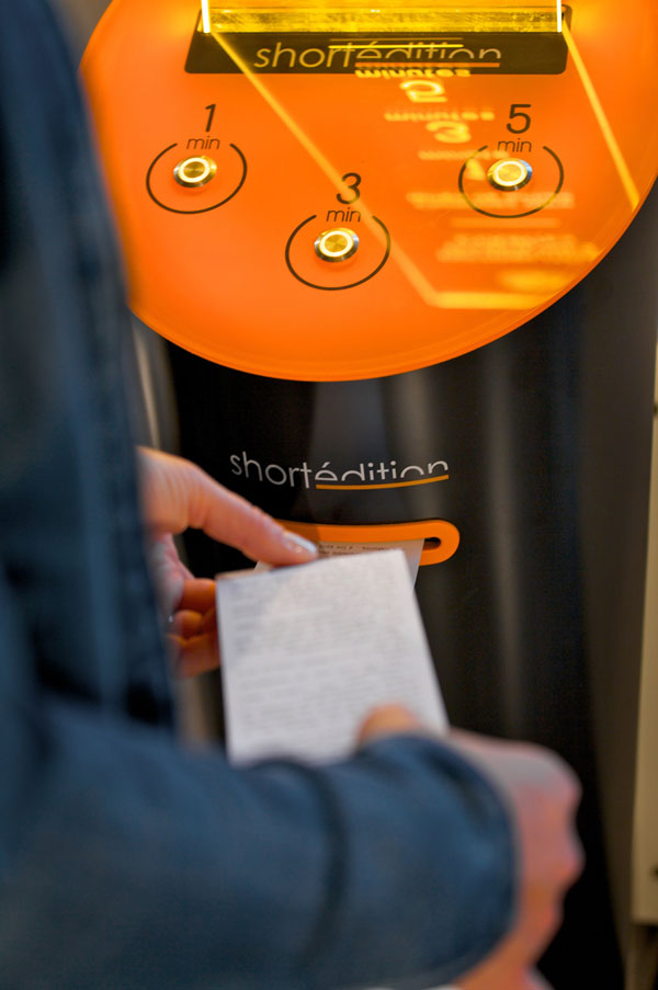 this machine prints free short stories for you to read while you wait 7 This Machine Prints Free Short Stories for You to Read While You Wait
