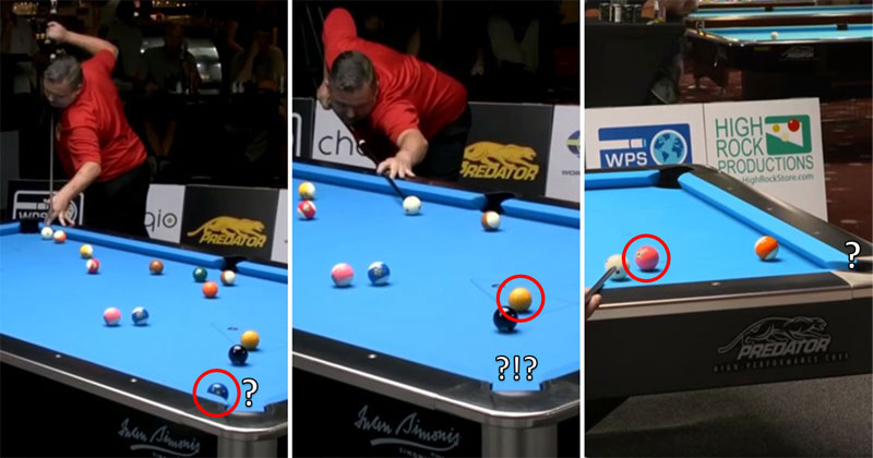 Guy Clears Table in Dramatic Fashion With 3 Unbelievable Shots