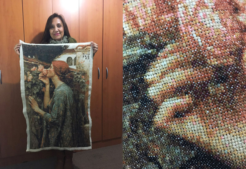 cross stitch took 4 years to complete This Cross Stitch Artwork Took Her 4 Years