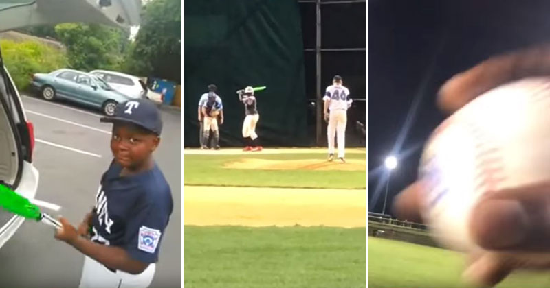 Dad Catches Son's Home Run Using the Bat He Surprised Him With for His Birthday