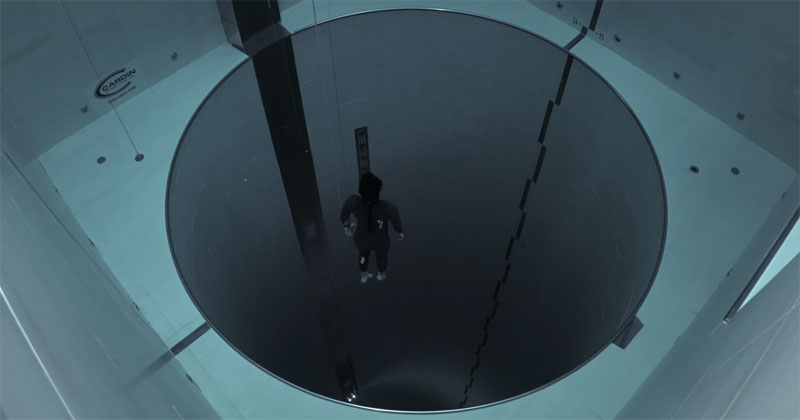Guillaume Néry Explores the Deepest Pool in the World on a Single Breath