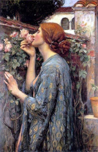 john william waterhouse   the soul of the rose aka my sweet rose This Cross Stitch Artwork Took Her 4 Years