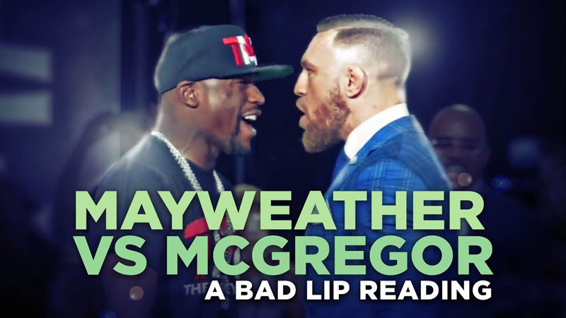 A Bad Lip Reading of the Mayweather McGregor PressConference