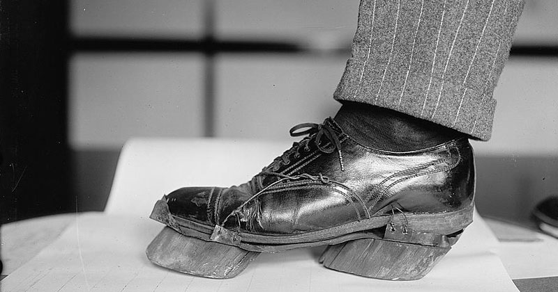 During Prohibition Moonshiners Would Wear Cow Shoes