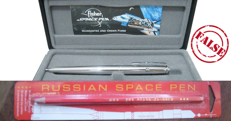 That Story About the Million Dollar US Space Pen and Russian Pencil is BS