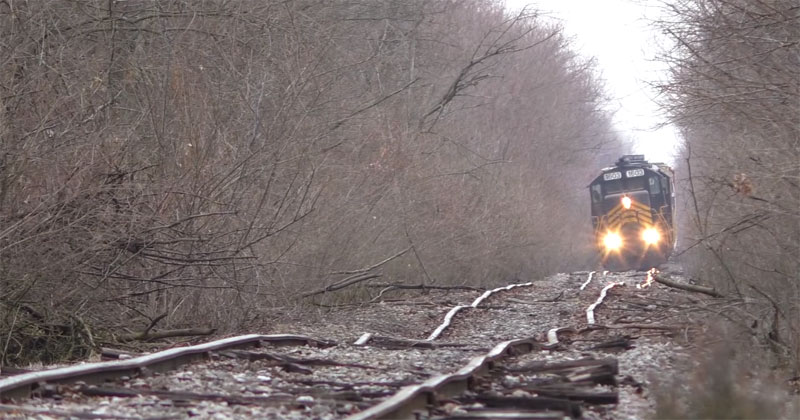 Just a Train Going Across the Wobbliest Tracks I Have EverSeen