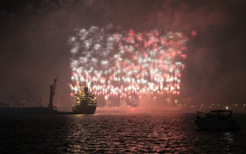 This World Record Fireworks Display Creates the AmericanFlag