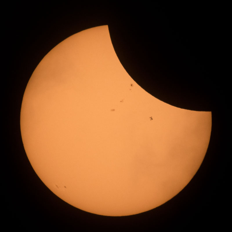 eclipse photos nasa ISS Photobomb