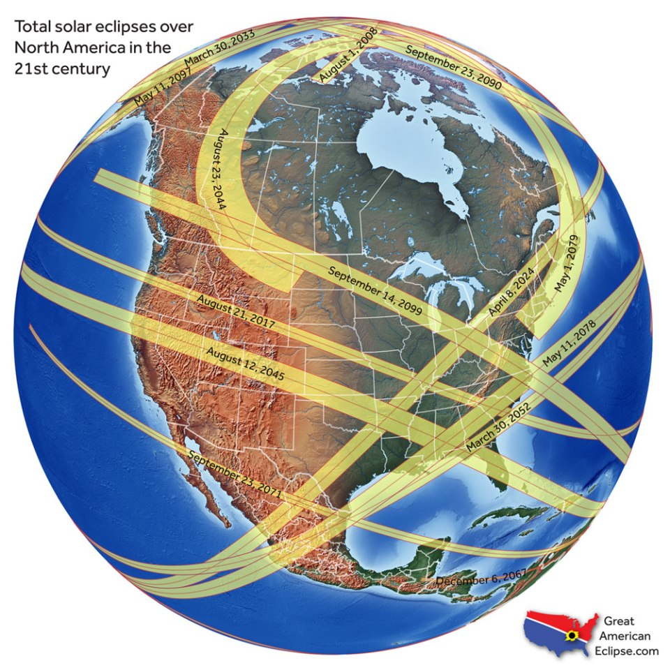 21stcenturynorthamericaneclipses Everything You Need to Know About the Most Anticipated Solar Eclipse in US History