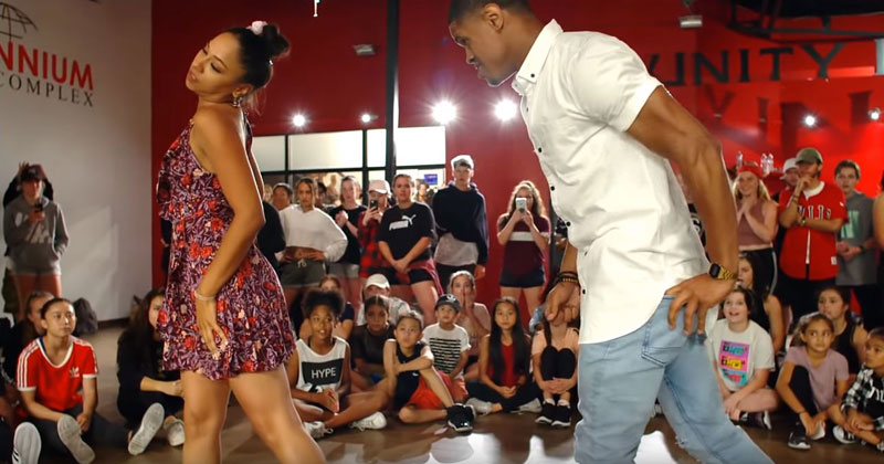 Dance Choreographer Proposes In the Middle of Demonstrating the Routine