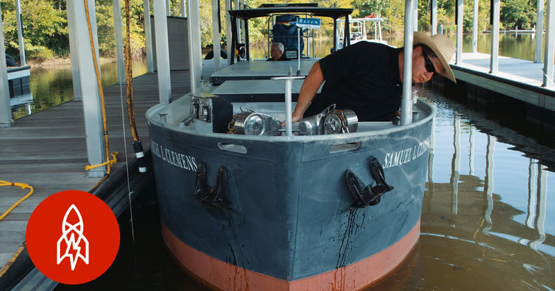 There's a Driver's Ed for Supertankers Where You Practice on Scale Model Ships 1/25th theSize