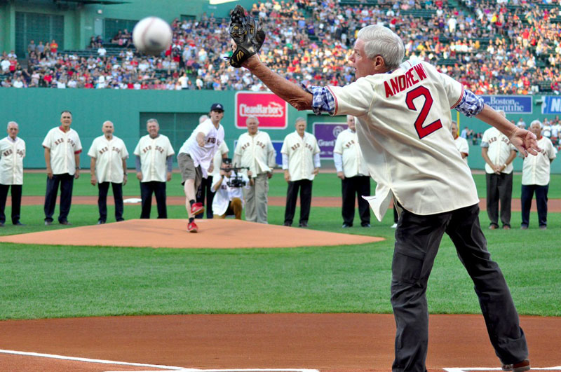 first pitch hits balls boston red sox 4 Ceremonial First Pitch Goes Horribly Wrong
