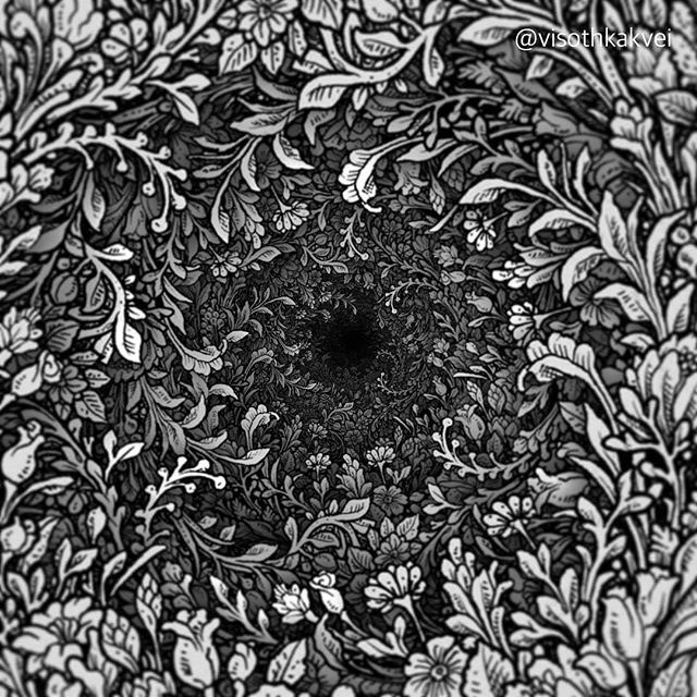 floral hole drawings by visoth kakvei 2 Visoth Kakveis Mind Boggling Floral Holes Look Impossible to Draw