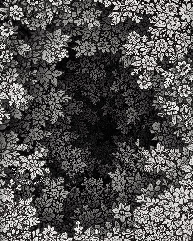 floral hole drawings by visoth kakvei 3 Visoth Kakveis Mind Boggling Floral Holes Look Impossible to Draw