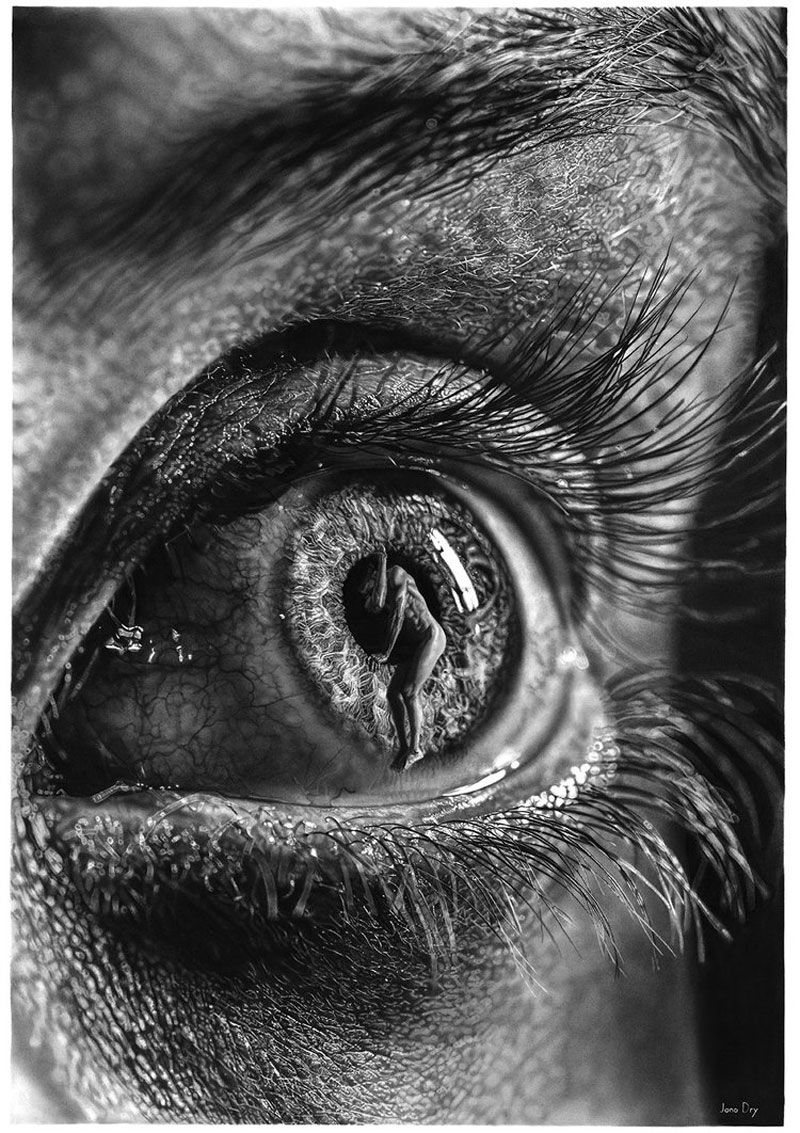 hyper realistic pencil drawings by jono dry 16 These Giant Pencil Drawings by Jono Dry are INSANE
