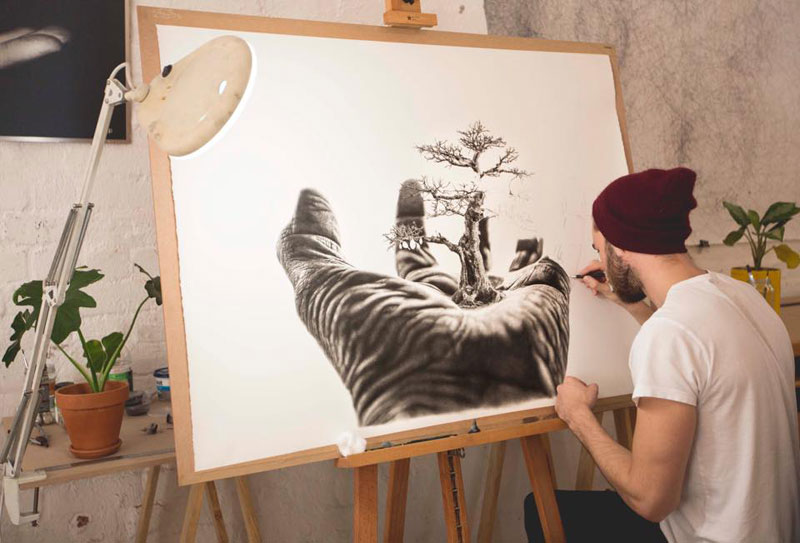 hyper realistic pencil drawings by jono dry 4 These Giant Pencil Drawings by Jono Dry are INSANE