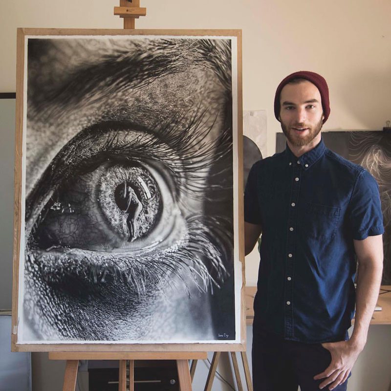 hyper realistic pencil drawings by jono dry 6 These Giant Pencil Drawings by Jono Dry are INSANE