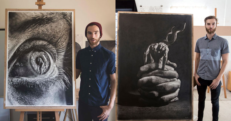 These Giant Pencil Drawings by Jono Dry are INSANE