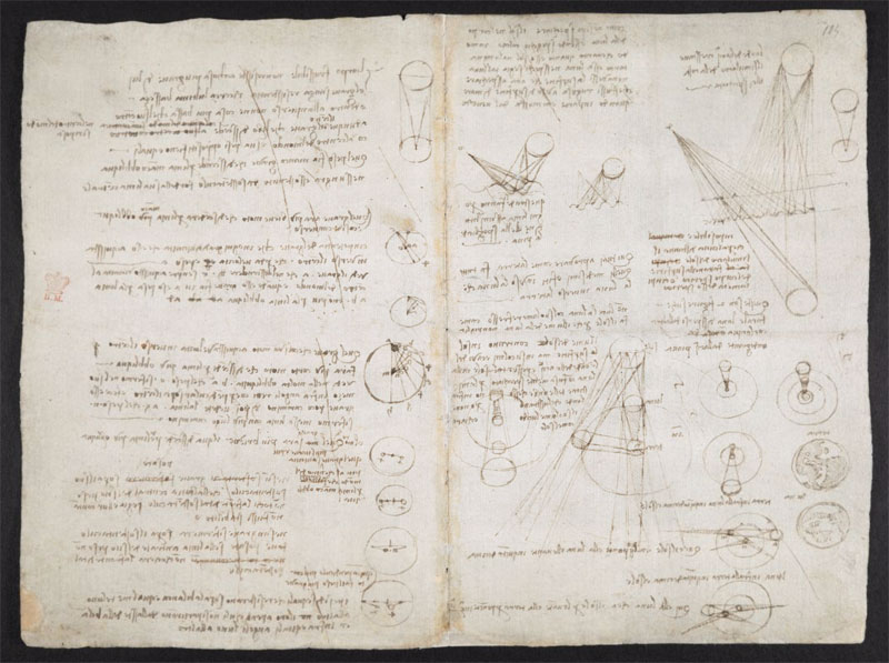 leonardo da vinci notebook 10 The British Library Has Fully Digitized 570 Pages of Leonardo da Vincis Visionary Notebooks