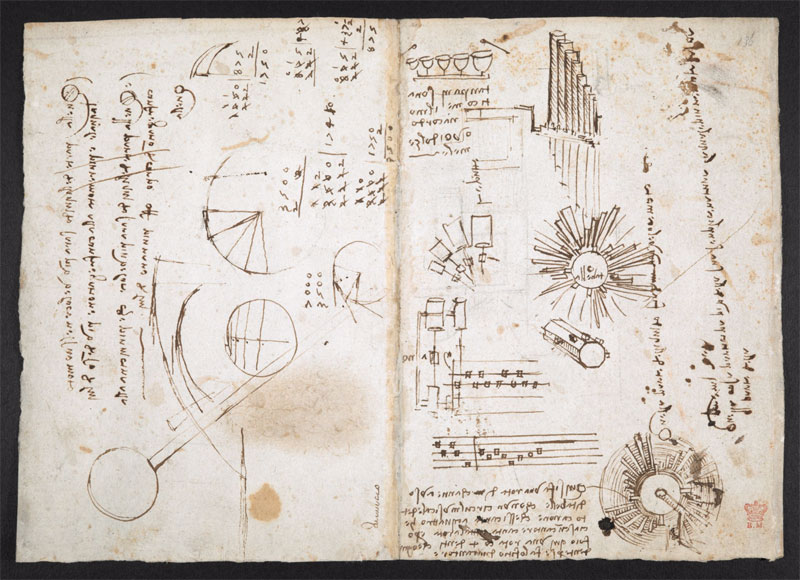 leonardo da vinci notebook 12 The British Library Has Fully Digitized 570 Pages of Leonardo da Vincis Visionary Notebooks