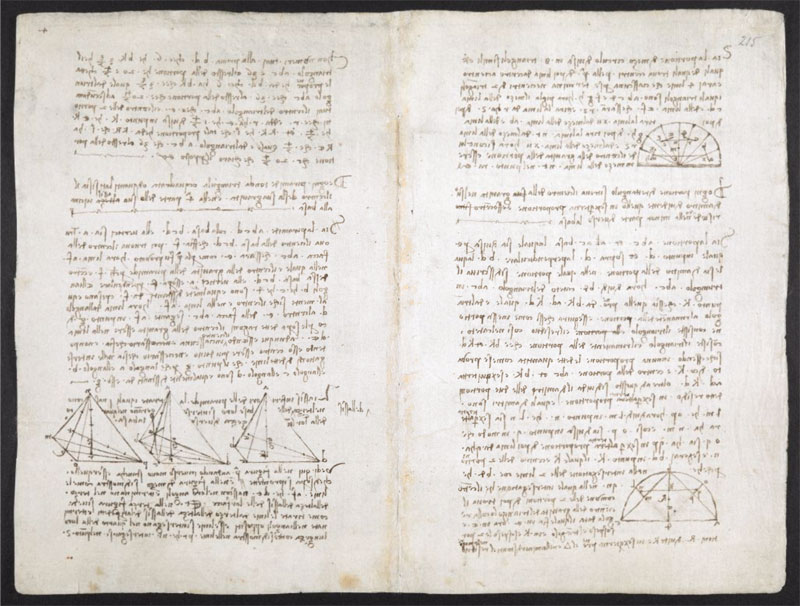 leonardo da vinci notebook 17 The British Library Has Fully Digitized 570 Pages of Leonardo da Vincis Visionary Notebooks