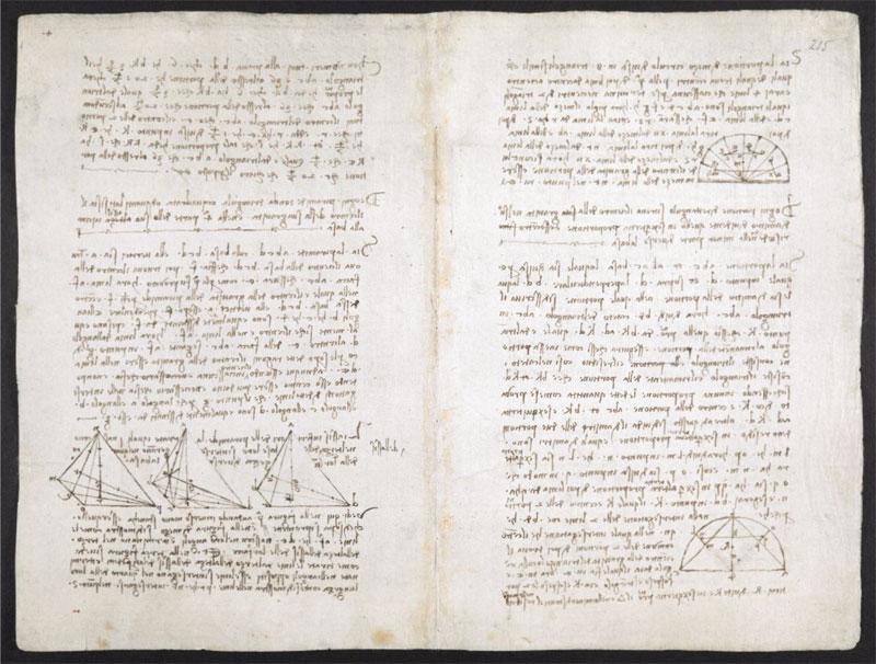 leonardo da vinci notebook 17 The British Library Has Fully Digitized 570 Pages of Leonardo da Vincis Visionary Notebooks