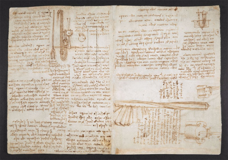 leonardo da vinci notebook 19 The British Library Has Fully Digitized 570 Pages of Leonardo da Vincis Visionary Notebooks