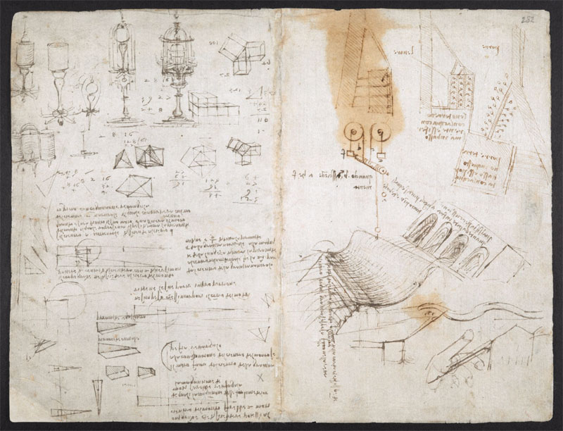leonardo da vinci notebook 20 The British Library Has Fully Digitized 570 Pages of Leonardo da Vincis Visionary Notebooks
