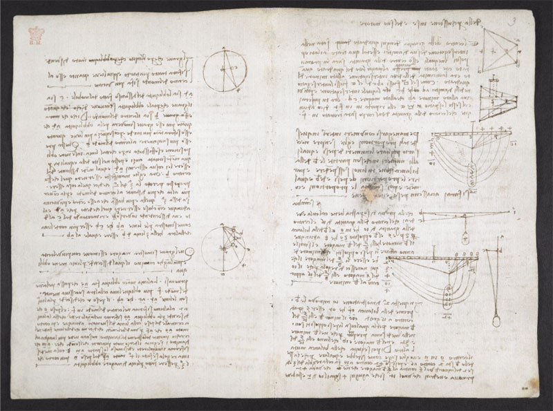leonardo da vinci notebook 21 The British Library Has Fully Digitized 570 Pages of Leonardo da Vincis Visionary Notebooks
