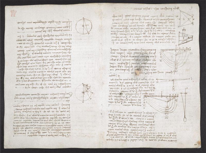 leonardo da vinci notebook 21 The British Library Has Fully Digitized 570 Pages of Leonardo da Vincis Visionary Notebooks