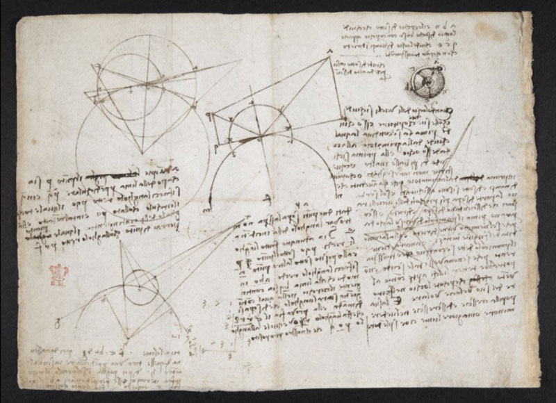 leonardo da vinci notebook 24 The British Library Has Fully Digitized 570 Pages of Leonardo da Vincis Visionary Notebooks