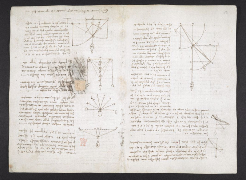 leonardo da vinci notebook 3 The British Library Has Fully Digitized 570 Pages of Leonardo da Vincis Visionary Notebooks