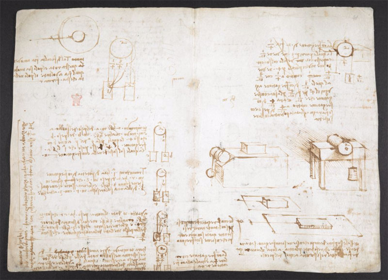 leonardo da vinci notebook 7 The British Library Has Fully Digitized 570 Pages of Leonardo da Vincis Visionary Notebooks