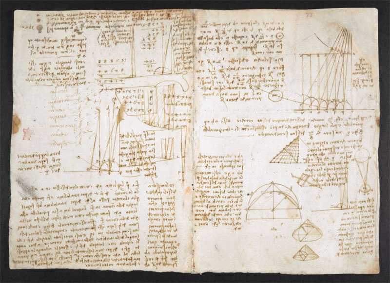 leonardo da vinci notebook 9 The British Library Has Fully Digitized 570 Pages of Leonardo da Vincis Visionary Notebooks