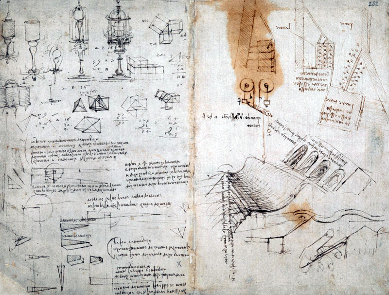 leonardo da vinci notebook cover The British Library Has Fully Digitized 570 Pages of Leonardo da Vincis Visionary Notebooks